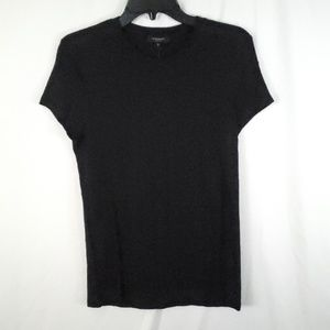 BLACK ORCHID Distressed Cotton Fitted Tee